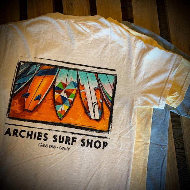 Archies Totter Surfboards Short Sleeve Tee