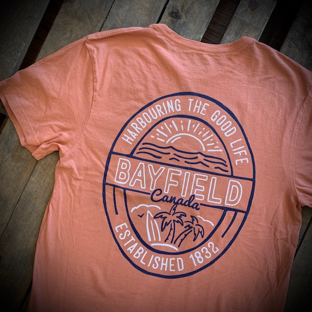 Bayfield Souvenir Tumble Wash Palm Short Sleeve Tee