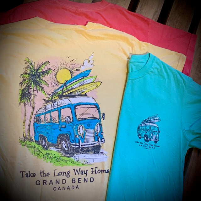 Grand Bend Souvenir Surf Van Short Sleeve Tee