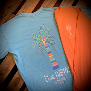 Grand Bend Souvenir Live Happy Long Sleeve Tee