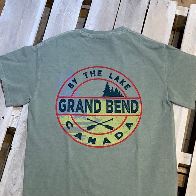 Grand Bend Souvenir Inwale Crossed Paddles Short Sleeve Tee