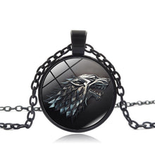 Colar Game of Thrones Stark Pingente Lobo