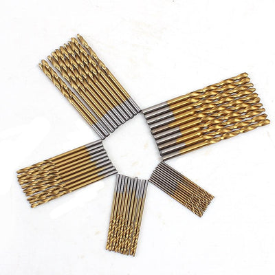 Titanium Coated Drill Bit - 50Pcs/Set