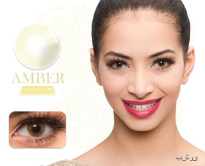 Amber Hidrocor Color Contacts