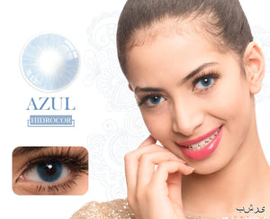 Azul Hidrocor Color Contacts
