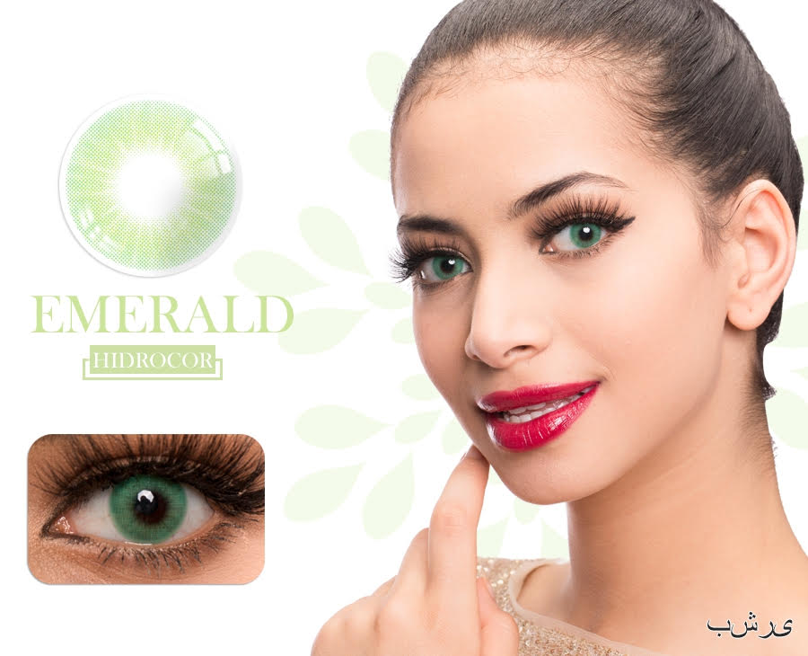 Emerald Hidrocor Color Contacts