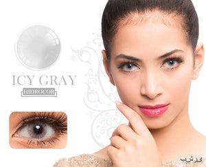 Icy Gray Hidrocor Color Contacts