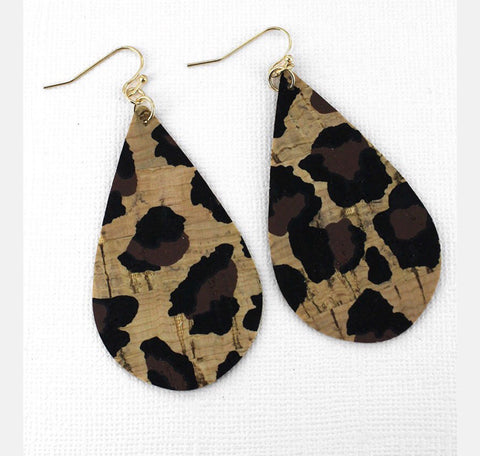 All Leopard Tear Drops Earring