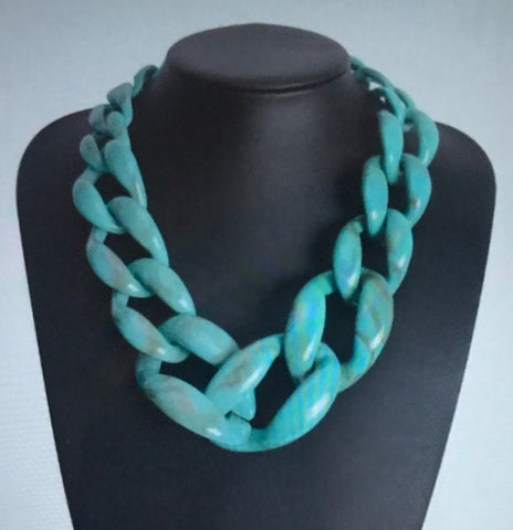 (J) Turquoise Bone Necklace