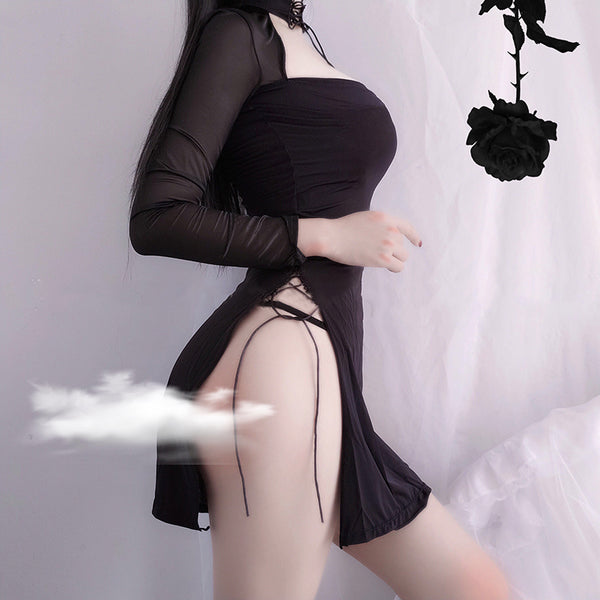 Gothic Vampire Temptress Sleepwear Lingerie Dress