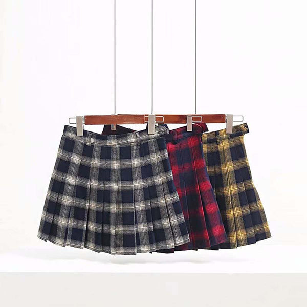 Gothic Punk Harajuku Plaid Pleated Skirt