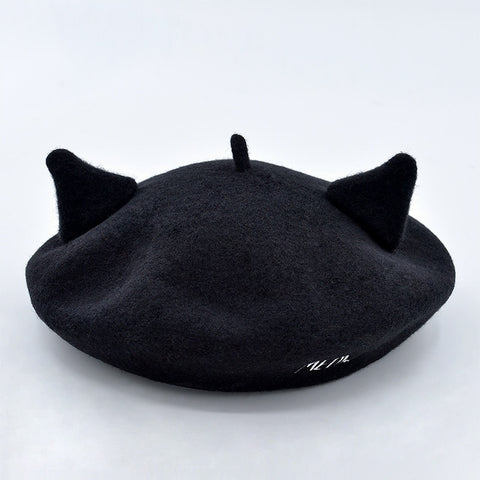 Gothic Harajuku Cat Ears Beret Hat