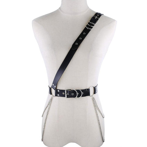 Gothic Sash Waist Chain Belt Harness (Available in 16 colors)