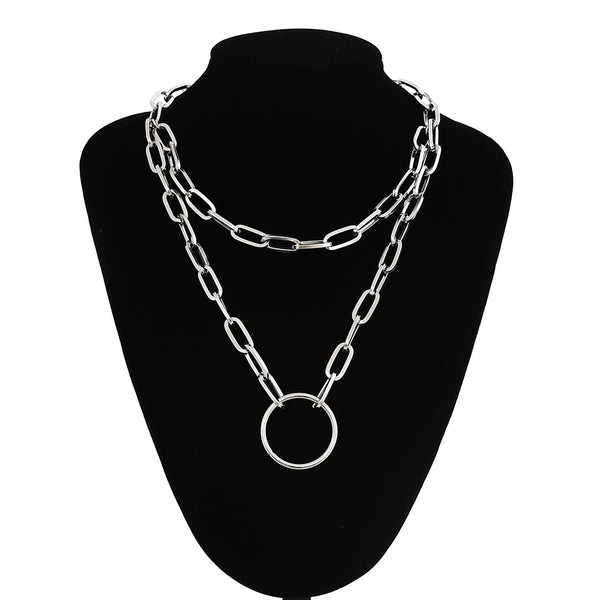 Gothic Grunge Chain O-Ring Necklace