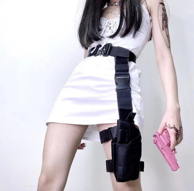 Gothic Cyberpunk Adjustable Belt and Leg Bag