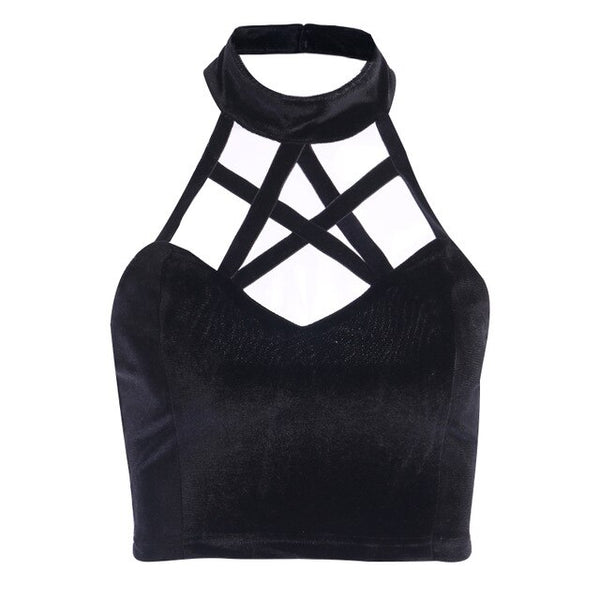 Gothic Pentagram Hollow Out Tank Top
