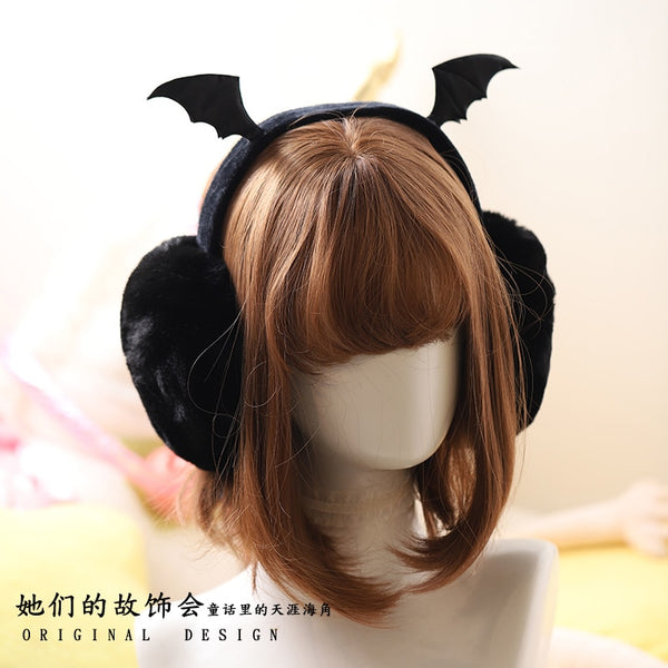 Gothic Harajuku Bat Wings Faux Fur Warm Earmuffs