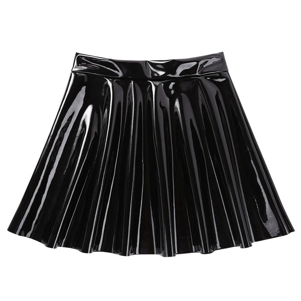 Gothic PVC Leather Mini Skirt