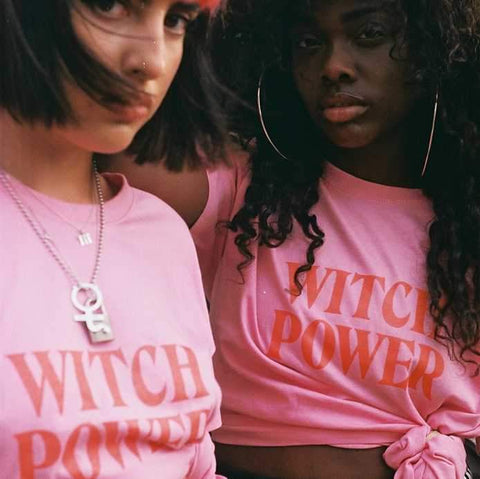 Gothic WITCH POWER T-Shirt (Available in pink and black)