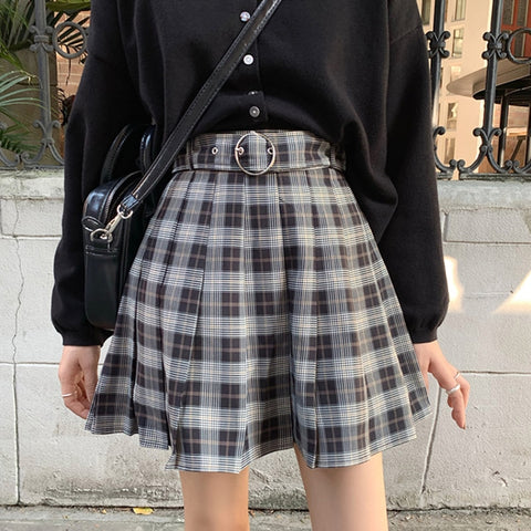 Gothic Grunge Schoolgirl Plaid Mini Skirt