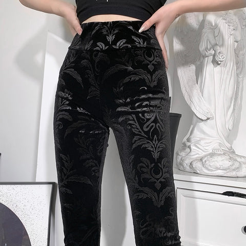 Gothic Victorian High Waist Leggings Pants