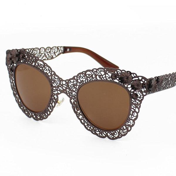 Gothic Intricate Design Cat Eye Sunglasses