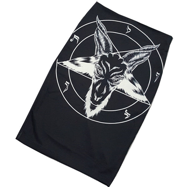 BAPHOMET Pentagram Bodycon Gothic Occult Skirt