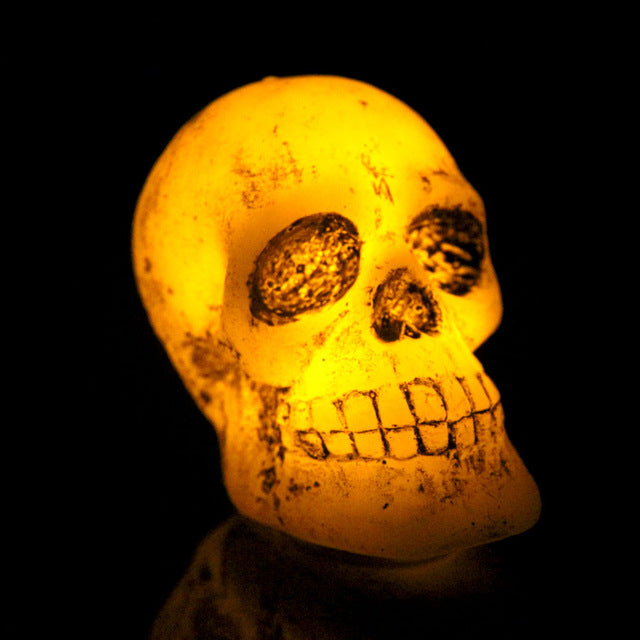 Gothic Mini Skull LED Flameless Electronic Candle Light