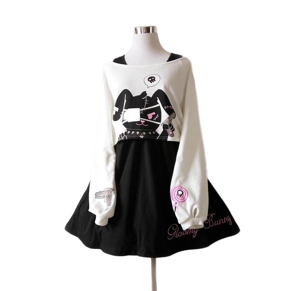 Gothic Lolita Harajuku 2-pc Bunny Dress