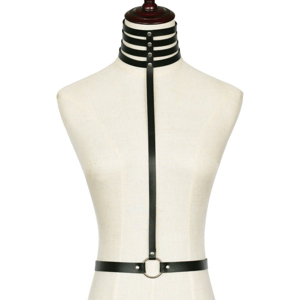 Gothic Multilayer Choker Harness
