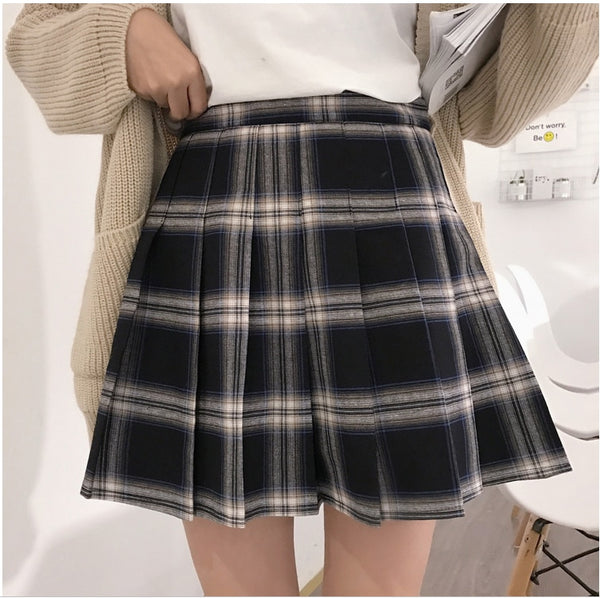 Gothic Grunge Harajuku Pleated Plaid Skirt (S to 5XL)