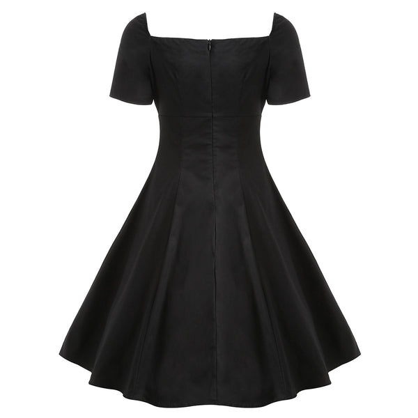 Gothic Lace Up Vintage Dress