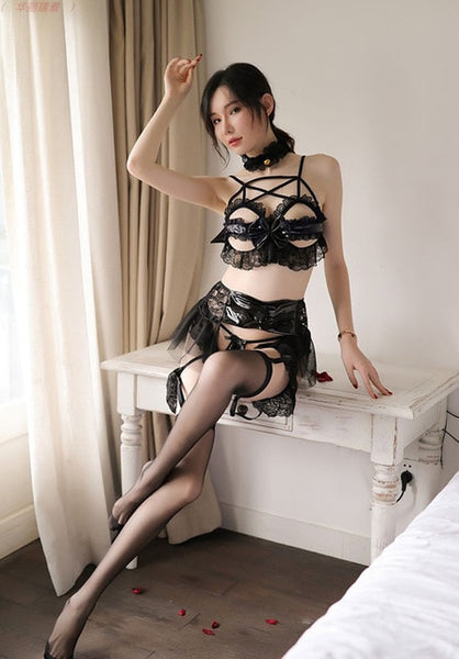 Gothic Lolita Bow and Wings Lingerie Set