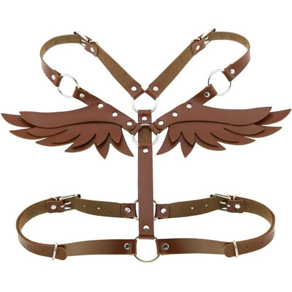 Gothic Wings Faux Leather Body Harness