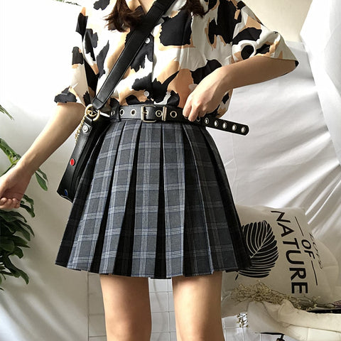 01c8e5593a Gothic Harajuku Grunge Pleated Mini Skirt