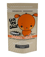 Lick You Silly Freeze-Dried Savory Chicken Bites Dog Treats – All-Natural USDA Inspected Chicken – Gluten, Grain & Wheat Free – Dog Training Treats