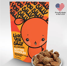 8oz Nutter Doodles - Peanut Butter + Honey Dog Biscuits - Lick You Silly Pet Products Shop
