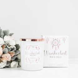 Wanderlust Jar Candle - Musk & Vanilla - The Organic Facialist
