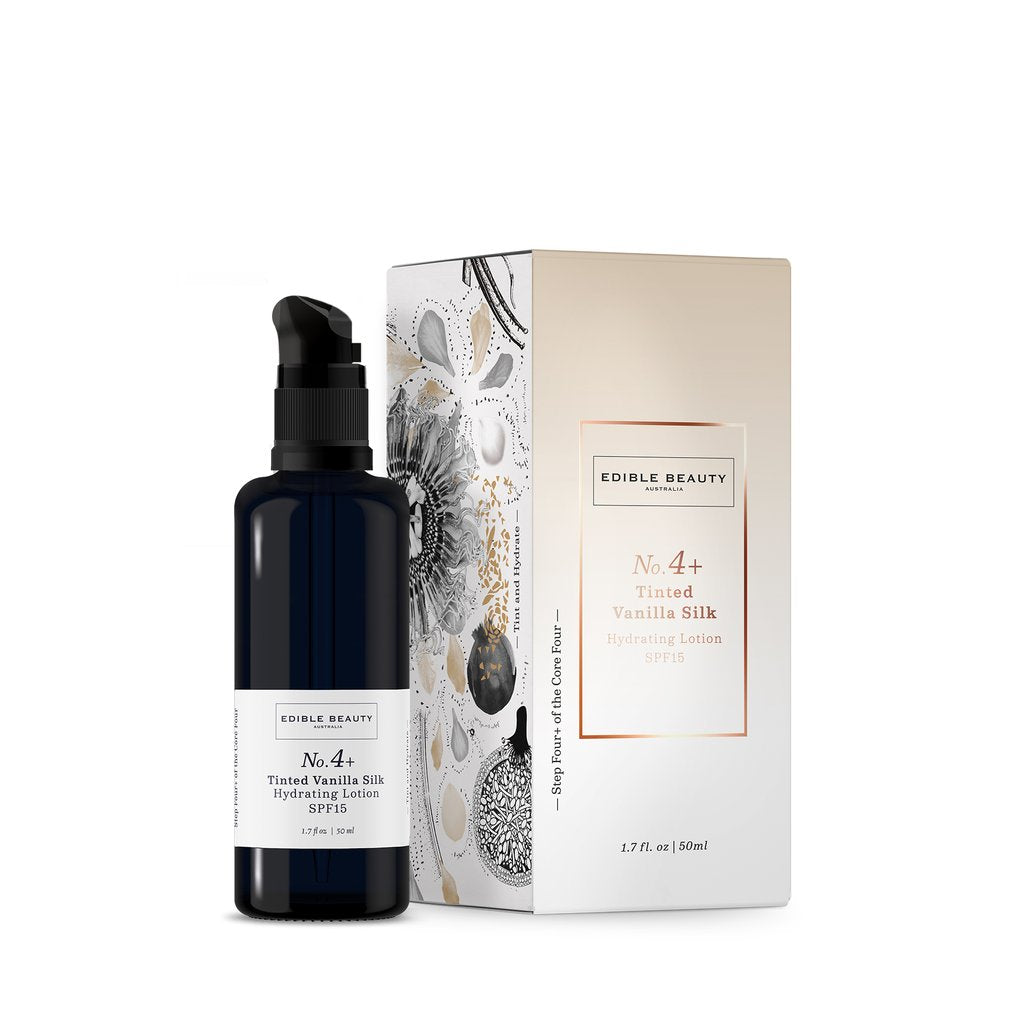 Edible Beauty | No.4 + Tinted Vanilla Silk Hydrating Lotion - The Organic Facialist