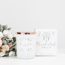 Wanderlust Jar Candle - Oakmoss & Lime - The Organic Facialist