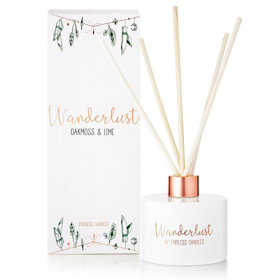 Wanderlust Room Diffuser - Oakmoss & Lime - The Organic Facialist