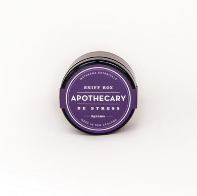 Apothecary  Sniff Box - De Stress - The Organic Facialist