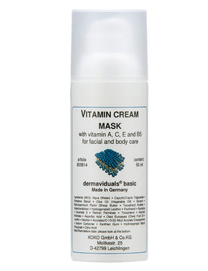 Vitamin Cream Mask - The Organic Facialist