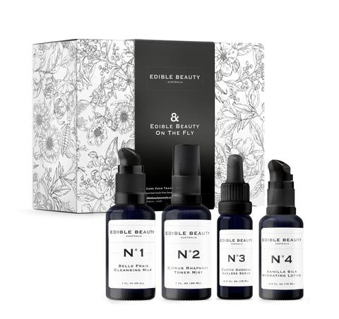 Edible Beauty | & Beauty on the Fly - Travel Mini Set - The Organic Facialist