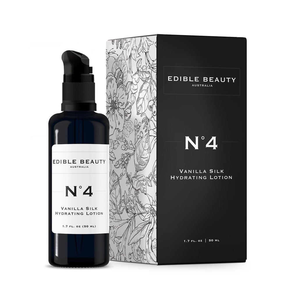 Edible Beauty | No4 Vanilla Silk Hydrating Lotion - The Organic Facialist