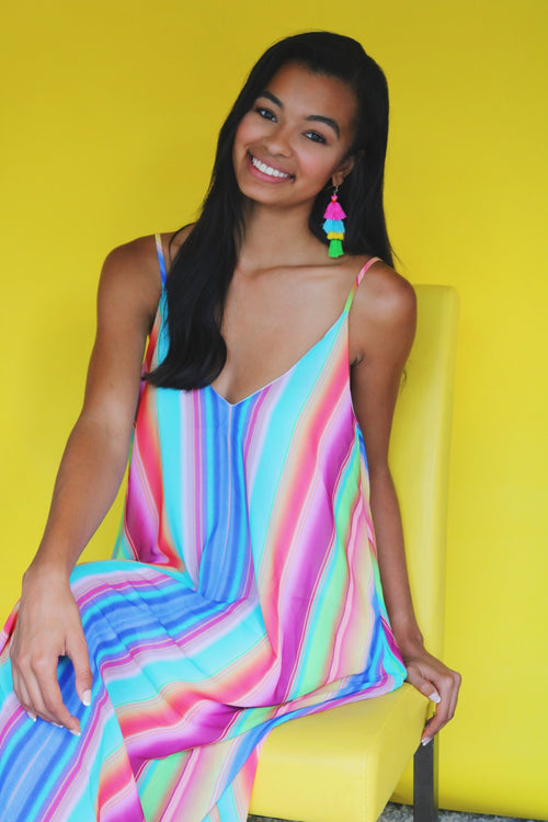 36c42a0c03 31 Threads Boutique.  35.00. Somewhere Over the Rainbow Maxi Dress