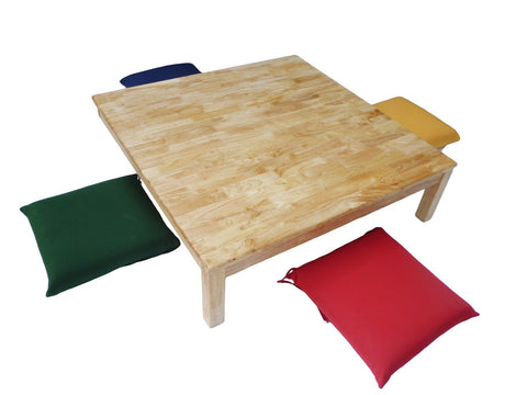Square Low table and 4 cushions-Lilypond Kids