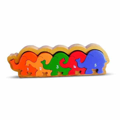 1-5 Elephant Procession Frame Puzzle-Lilypond Kids