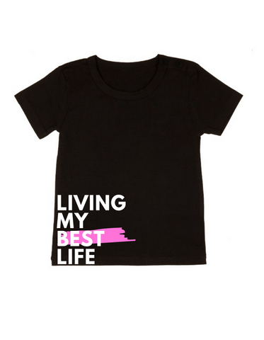 MLW By Design - Living My Best Life Tee-Lilypond Kids