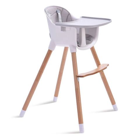 Wooden High Chair - Amelia 2-In-1 - Grey by Joy Baby-Lilypond Kids